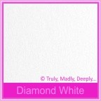 Bomboniere Box - 10cm Cube - Crystal Perle Diamond White (Metallic)