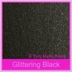 Crystal Perle Glittering Black 125gsm Metallic - 130x130mm Square Envelopes