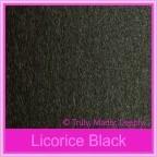 Crystal Perle Licorice Black 300gsm Metallic Card Stock - A4 Sheets