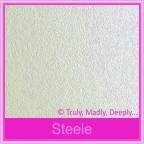 Crystal Perle Steele 125gsm Metallic - 130x130mm Square Envelopes