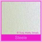 Bomboniere Box - 10cm Cube - Crystal Perle Steele Silver (Metallic)