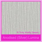 Curious Metallics Anodised Silver Lumina 250gsm Card Stock - A4 Sheets