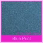 Curious Metallics Blue Print 300gsm Card Stock - A4 Sheets