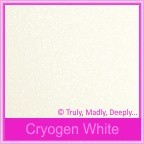 Curious Metallics Cryogen White 120gsm - 130x130mm Square Envelopes