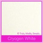 Bomboniere Box - 10cm Cube - Curious Metallics Cryogen White