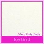 Curious Metallics Ice Gold 250gsm Card Stock - A4 Sheets