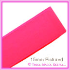 Double Sided Satin Ribbon 15mm - Azalea Pink - 25Mtr Roll