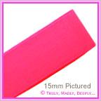 Double Sided Satin Ribbon 6mm - Azalea Pink - 25Mtr Roll
