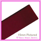 Double Sided Satin Ribbon 25mm - Burgundy - 25Mtr Roll