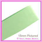 Double Sided Satin Ribbon 10mm - Celery - 25Mtr Roll