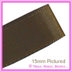 Double Sided Satin Ribbon 25mm - Chocolate - 25Mtr Roll