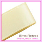Double Sided Satin Ribbon 25mm - Cream - 25Mtr Roll
