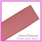 Double Sided Satin Ribbon 40mm - Dusty Pink - 25Mtr Roll