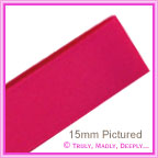 Double Sided Satin Ribbon 25mm - Fuchsia - 25Mtr Roll