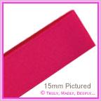 Double Sided Satin Ribbon 15mm - Fuchsia - 25Mtr Roll