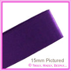 Double Sided Satin Ribbon 25mm - Purple - 25Mtr Roll