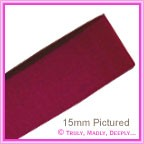 Wedding Car Ribbon 60mm Rich Magenta - Double Sided Satin - 25Mtr Roll (4 to 5 Cars)