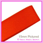 Double Sided Satin Ribbon 25mm - Tangerine - 25Mtr Roll