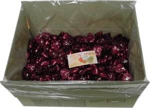 Foil Wrapped Chocolate Hearts - Burgundy - 5kg (approx 620)