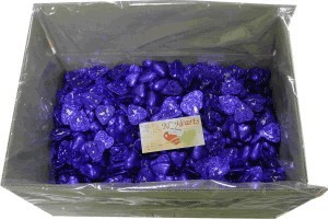 Foil Wrapped Chocolate Hearts - Purple - 5kg (approx 620)