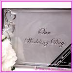 Wedding Guest Book and Pen Set - Silver Our Wedding Day
