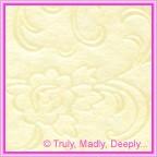 A4 Embossed Invitation Paper - Olivia Ivory Pearl