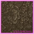 A4 Embossed Invitation Paper - Embossed Flowers / Roses / Bouquet Chocolate Brown Pearl