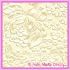 A4 Embossed Invitation Paper - Embossed Flowers / Roses / Bouquet Ivory Pearl