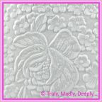 A4 Embossed Invitation Paper - Embossed Flowers / Roses / Bouquet Matte White