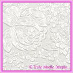 A4 Embossed Invitation Paper - Embossed Flowers / Roses / Bouquet White Pearl