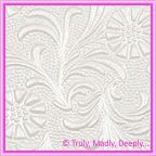 A4 Embossed Invitation Paper - Tuscany / Sunflower White Pearl
