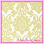 A4 Flocked Invitation Paper - Damask Cream