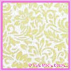 A4 Flocked Paper - Flourish Cream