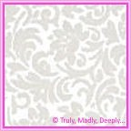 A4 Flocked Paper - Flourish Bridal White