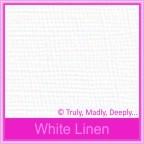 Bomboniere Box - 5cm Cube - Knight White Linen (Matte)
