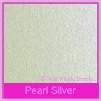 Metallic Pearl Silver 125gsm - 130x130mm Square Envelopes