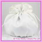 Wedding Bridal Bag - White Pearl