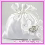 Wedding Bridal Bag - Double Heart Diamantes