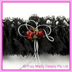 Wedding Garter - Black with Red Rose