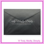 Crystal Perle Licorice Black 125gsm Metallic - C5 Envelopes