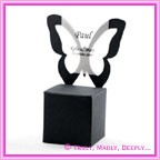 Bomboniere Butterfly Chair Box - Metallic Black Mist