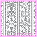 A4 Designer Paper Flourish Hearts Silver
