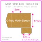 120x175mm Pocket Fold - Buffalo Kraft Board 283gsm