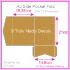 A5 Pocket Fold - Buffalo Kraft Board 283gsm