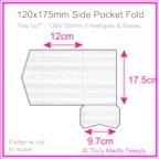 120x175mm Pocket Fold - Classique Striped White