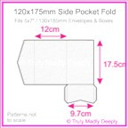120x175mm Pocket Fold - Cottonesse Bright White 250gsm