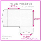 A5 Pocket Fold - Cottonesse Bright White 360gsm