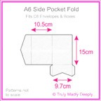 A6 Pocket Fold - Cottonesse Bright White 250gsm