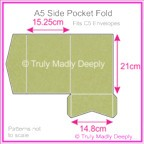 A5 Pocket Fold - Cottonesse Country Green 250gsm