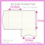 A5 Pocket Fold - Cottonesse Natural White 250gsm